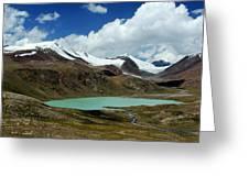 Glacial Lake In Kyrgyz Tien-shan Greeting Card