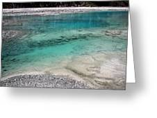 Glacial Pool Inn South New Zealand Greeting Card