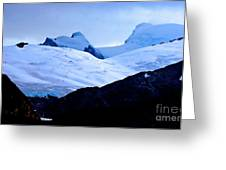 Glacier Cracks Greeting Card