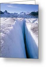 Glacier Crevasse, Canada Greeting Card