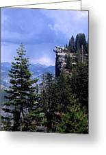 Glacier Point From Four Mile Trail Greeting Card