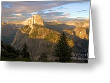Glacier Point Glow Greeting Card