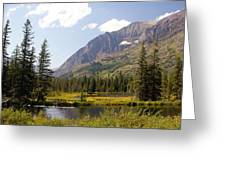 Glacier Ponds Greeting Card