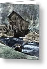 Glade Creek Mill In Infrared. Greeting Card