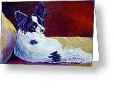 Glamor - Papillon Dog Greeting Card