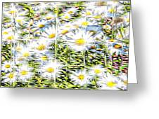 Glass Flowers Greeting Card
