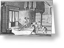 Glass Manufacture, 1751 Greeting Card