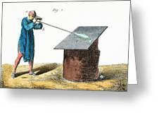 Glassblower, 18th Century Greeting Card