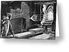 Glassworker, 19th Century Greeting Card
