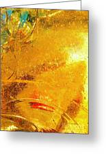 Glassworks Series-gold I Greeting Card