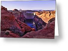 Glen Canyon Dam Greeting Card