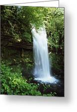 Glencar Waterfall, Yeats Country, Co Greeting Card