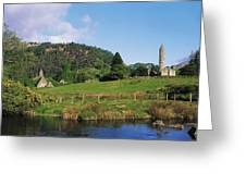 Glendalough, Co Wicklow, Ireland Saint Greeting Card