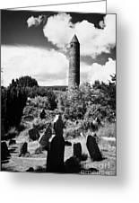 Glendalough Round Tower Ireland Greeting Card