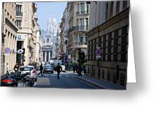 Glimpse Of Montmartre Greeting Card