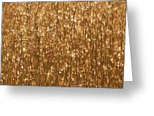 Glistening Gold Prairie Grass Abstract Greeting Card