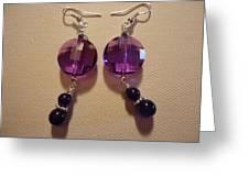 Glitter Me Purple Earrings Greeting Card