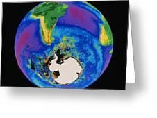 Global Biosphere, Southern Hemisphere, From Space Greeting Card