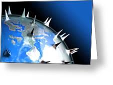 Global Pandemic, Conceptual Artwork Greeting Card