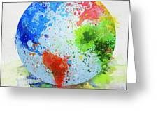 Globe Painting Greeting Card