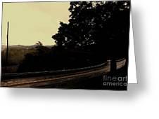 Gloomy Walk Greeting Card