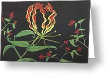 Gloriosa Greeting Card by Melanie Blankenship