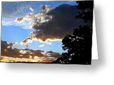 Glorious August Sunset Greeting Card