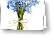 Blue Wildflower Bouquet Greeting Card