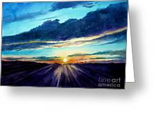 Glory Of The Sunset 2 Greeting Card