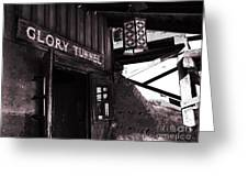 Glory Tunnel Mine Entrance In Calico California Greeting Card by Susanne Van Hulst