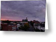 Gloucester Sunrise Panorama Greeting Card by Matthew Green