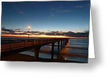 Glow On The Horizon Greeting Card