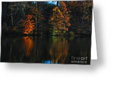 Glow Reflection Greeting Card