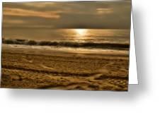 Glowin' Ocean Greeting Card