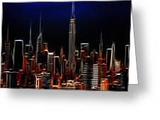 Glowing New York Greeting Card