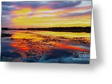 Glowing Skies Over Crews Lake Greeting Card