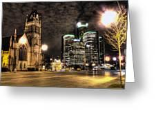 Gm Building Detroit Mi Greeting Card