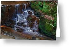 Gnoll Cascades Greeting Card by Julie L Hoddinott