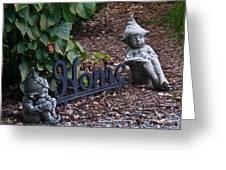 Gnomes At Home Greeting Card