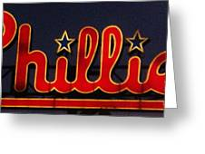 Go Phils Greeting Card by Snapshot Studio