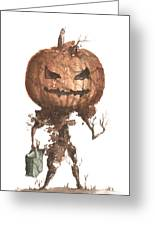 Goblin Tree Trick Or Treat Greeting Card