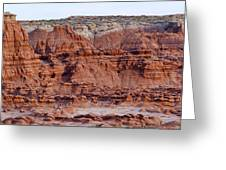 Goblin Valley Triptych Center Greeting Card