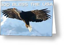 God Bless The Usa 2 Greeting Card
