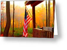 God Country Home Greeting Card