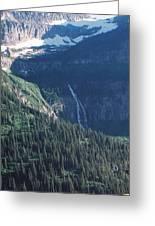 Going To The Sun Waterfall Greeting Card