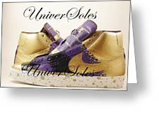 Gold And Purp Id Blazers Greeting Card