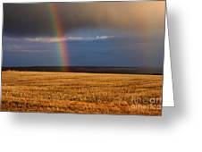 Gold At The End Of The Rainbow Greeting Card