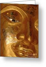 Gold Face Of Buddha Greeting Card