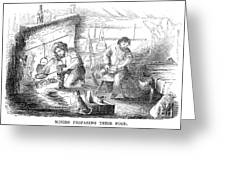 Gold Mining Camp, 1853 Greeting Card