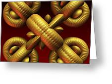 Gold One Greeting Card